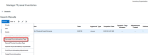 7 Steps to Physical Inventory Count in Oracle SCM Cloud - Trinamix